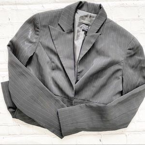 Moda International Black Pinstripe Blazer